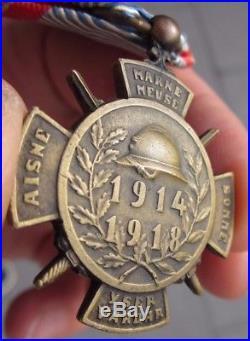 Rare Médaille des Volontaires Luxembourgeois de la grande Guerre 1914-1918 WW1
