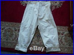 Rare Pantalon Fr Blanc De Forteresse Alpin Mle 1915