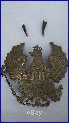 Rare Shapska Prussienne d'officier en feutre Ersatz 1914-1918