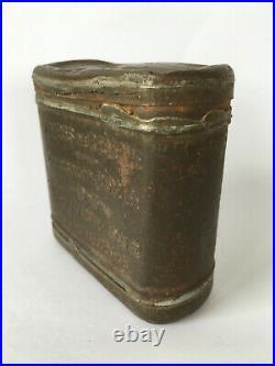 Rare boite vivre de réserve POULAIN chocolat poilu ration casque WW1