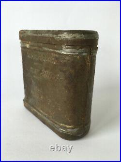 Rare boite vivre de réserve chocolat poilu ration casque WW1