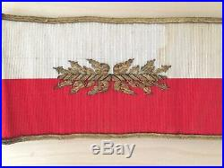 Rare brassard d'État major du général commandant en chef blanc et rouge FRANCE