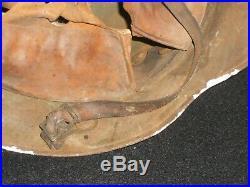 Rare casque Allemand camouflé original jus grenier WW1 1914-18