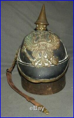 Rare casque à pointe 1887 du JR 67 nominatif helm pickelhaube spiked helmet