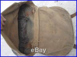 Rare monosac sac de cavalerie reglementaire francais selle sellerie Dragons Cuir