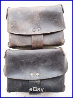 Rare paire de cartouchières tirailleurs sénégalais RTS indigène poilu 14 18 ww1