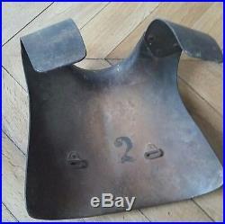 Rare plaque protection allemande tranchee casque ww1