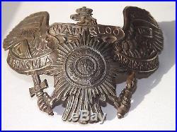 Rare plaque shaspska 13° ULHAN, Casque à pointe, spike helmet, pickelhaube