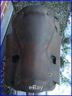 Rare selle de cavalerie belge mod. 1910! Belgique 1914-1918 cavalry TBE! Ww1