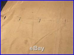 Rare toile de tente française modèle 1892 cachou! WW1 1914 1918 tranchée