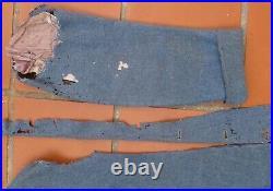 Relique Capote WWI Bleu Horizon insignes galons pattes de col tissu ORIGINAL
