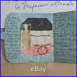 Relique Drapeau Allemand Marne Poilu 1914 Casque Kepi Ourcq