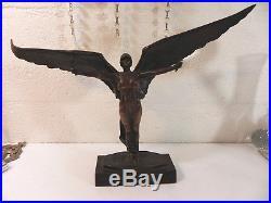 SEGOFFIN statue bronze fondeur RUDIER Ecole Polytechnique f. FOCH 1914-1918