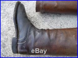 SPAHIS 1900 1914 Paire de Bottes Officier Francais cuir quadrillé
