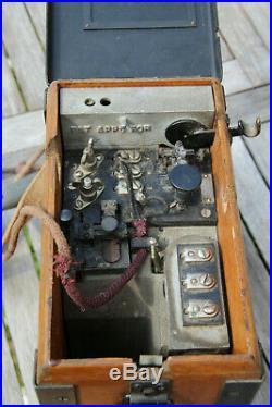 SUPERBE Téléphone militaire de tranchées US ARMY field model A 1917 WW1