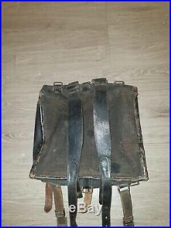 Sac As de carreau Modèle 1893 Zouave Fabrication Alger 1914-1918 Génie. Rare