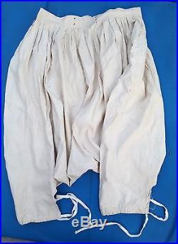Sarouel en conton blanc de zouave ou tirailleur 1914