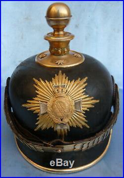 Saxe-casque D'officier De Reserve D'artillerie A Pied-casque A Pointe