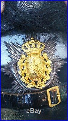 Schako de sous officier supérieur Saxon modèle 1867 Bataillon de chasseurs WW1