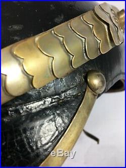 Schapka Uhlan Saxonne UR 17 Ulanen Regiment WW1 modèle 1895 Saxe casque pointe