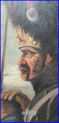 Schilder Marcel Peintre Alsace Grognard Napoleon Feu De Camp Signé