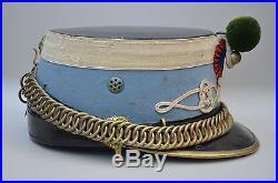 Shako de troupe de hussards, modèle 1874, complet dans sa boite