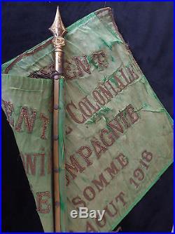 Somme 1918 Fanion 2é Régiment Infanterie Coloniale 2é Compagnie SOMME 8 AOUT