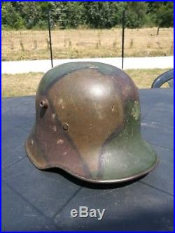 Stahlhelm 1916 camouflé feldgrau casque à pointe Allemand Prussien Verdun 14-18