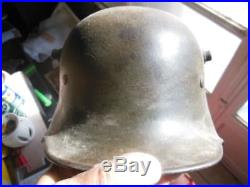 Stahlhelm 1916 feldgrau casque à pointe Allemand Prussien Empire Verdun 14-18