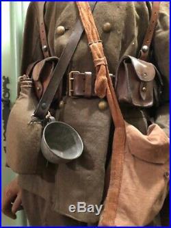 Superbe Mannequin Ancien Avec Uniforme De L Artillerie Coloniale 1914-1920