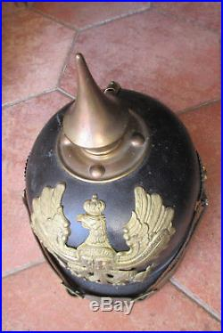 Superbe casque à pointe Prussien troupe modèle 1895