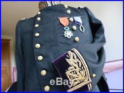 Superbe habit brodé officier marine amiral general ingenieur mecanicien et LH