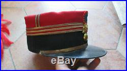 Superbe képi foulard de Capitaine d'infanterie grande tenue vers 1910