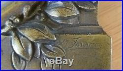 TRES RARE cadre bronze, guerre 1914 1918, SIGNÉ N°4
