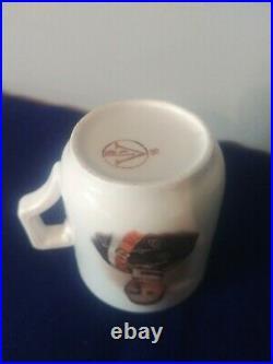 Tasse Allemande kronprinz Réglementaire 1914 porcelaine Ww1 patriotique casque