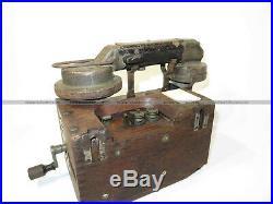 Téléphone allemand ww1 german phone WK1 Armeefeldfernsprecher Zusatzkasten