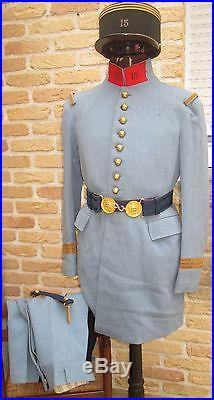 Tenue Complete M1919 Bleu Horizon, Capitaine 15° R. A de Douai