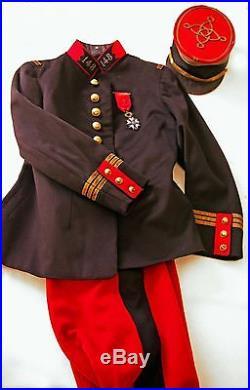 Tenue de cheval de capitaine d'infanterie 1914
