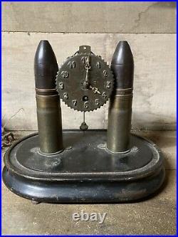 Tres Belle Pendule 14-18 Art De Tranchée Verdun Somme Guerre Poilu