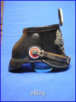 Tschako shako 1915 ww1 wk1 14-18 prusse pickelhaube Fliegertruppen Luftschiffer