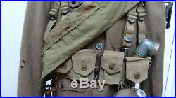 UNIFORME AMERICAIN WW1 14-18 avec CASQUE BRELAGE GOURDE SAC WW2 39-45