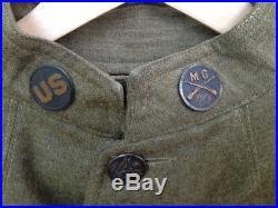 UNIFORME US 1GM marquée 917 + pantalon d'origine 918 bon état BON TAILLE blouse