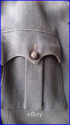 Vareuse Française bleu Horizon 4 poches adjudant chef du 34ème R. A 1914/1918