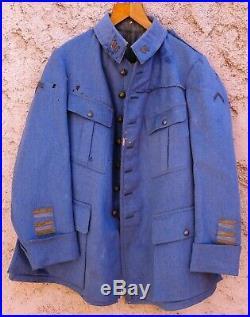 Vareuse Lt colonel 86° RI VERDUN Bleu Horizon ORIGINAL WWI 1914-1918 Uniforme