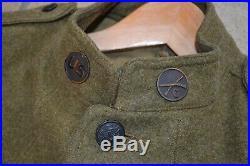 Vareuse Troupe Us Ww1 Originale Datee 1918 Avec Insigne 33 DI Occasion