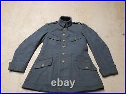 Vareuse officier en drap + pull en laine de grenier