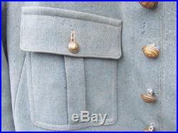 Vareuse /tunique 4 Poches Officier Bleu Horizon Ww1 Veste Officier Bh 1915/1918