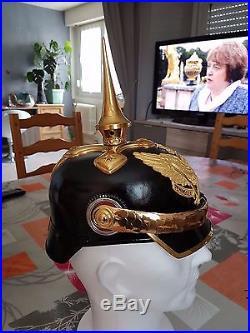 Vends ou échange casque à pointe d'officier 9 éme dragon
