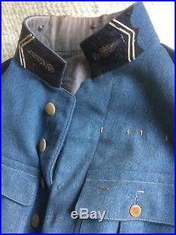Veste Vareuse Bleu Horizon De Colonel De Gendarmerie 14/18 Ww1