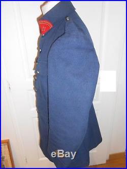Veste du 11 régiment d'artillerie gris bleu 1418 Poilu